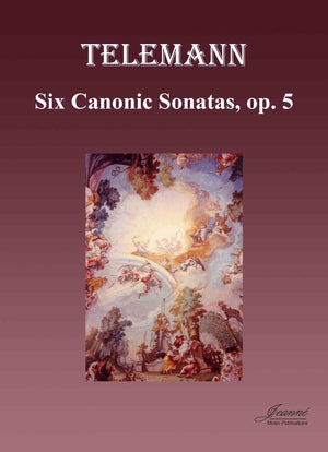 Telemann and Anderson: Six Canonic Sonatas, op. 5 (bass clef), Version A