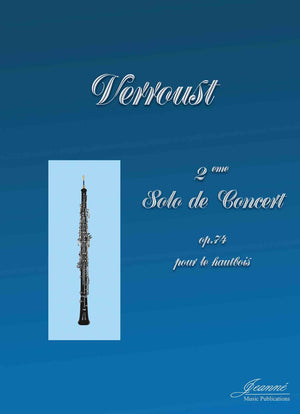 Verroust: 2nd Solo de Concert, op. 74 for oboe and piano