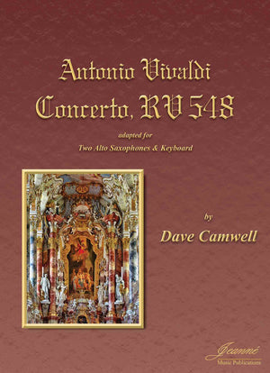 Vivaldi (Camwell): Concerto RV548 for Two Alto Saxophones and Keyboard