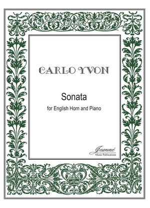 Yvon: Sonata for English horn and piano