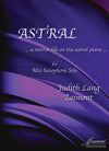 Zaimont: Astral for solo alto saxophone