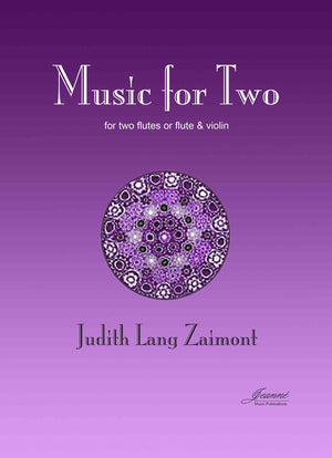 Zaimont: Music for Two (2 flutes or flute-violin)