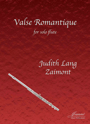Zaimont: Valse Romantique for Solo Flute