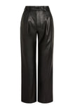 Vegan Leather Pleated Pant