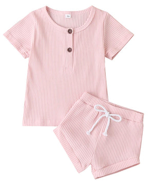 Ribbed Baby Girl Outfit