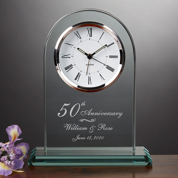Personalized Anniversary Clock (Create Custom Message!)