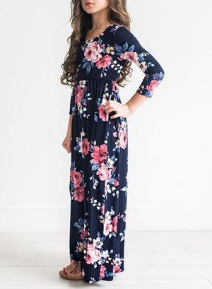 Girl's Floral Shabbos Robe