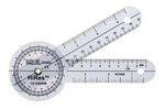 Baseline Plastic Goniometer - HiRes 360 Degree Head - 6 inch Arms