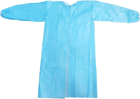 Level 2 Hopsital Gown, SMS fabric, blue, one size fits all