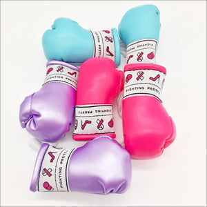 Fighting Pretty Mini Boxing Gloves - Knockout Pink