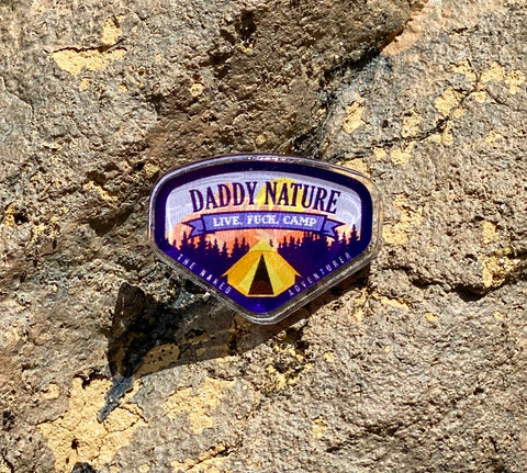 Daddy Nature Acrylic Pin Purple