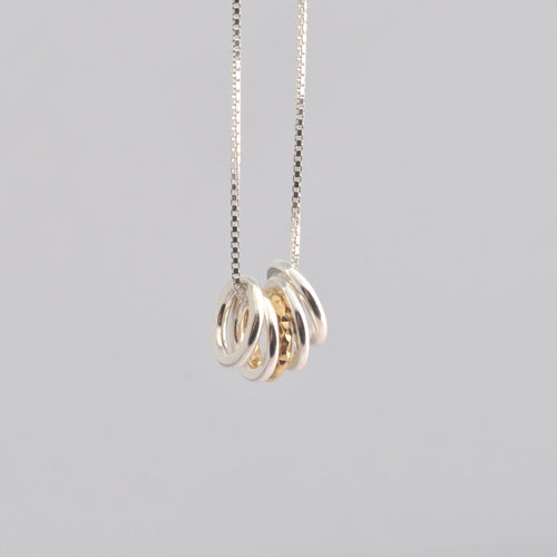 Gold and Silver Circles Necklace