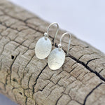 Oval Disc Sands Drop Earrings