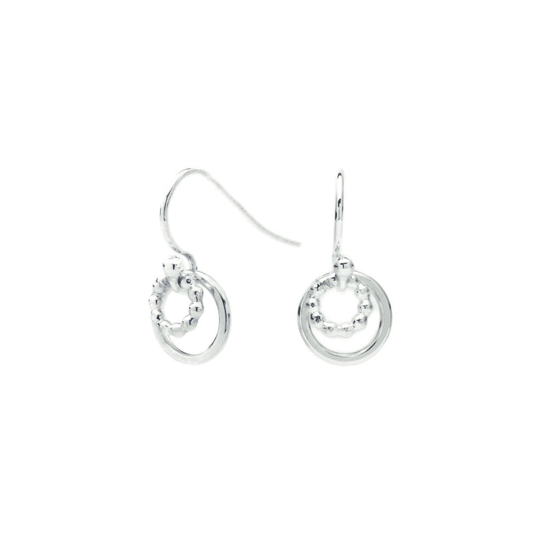 Dotty Circle Drop Earrings