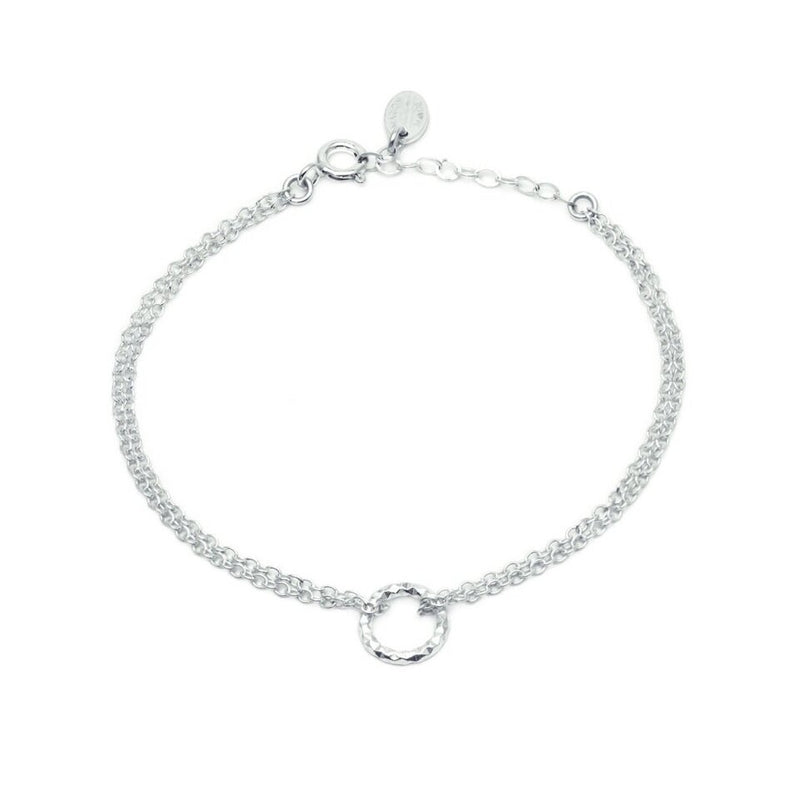 Faceted Silver Circle Bracelet