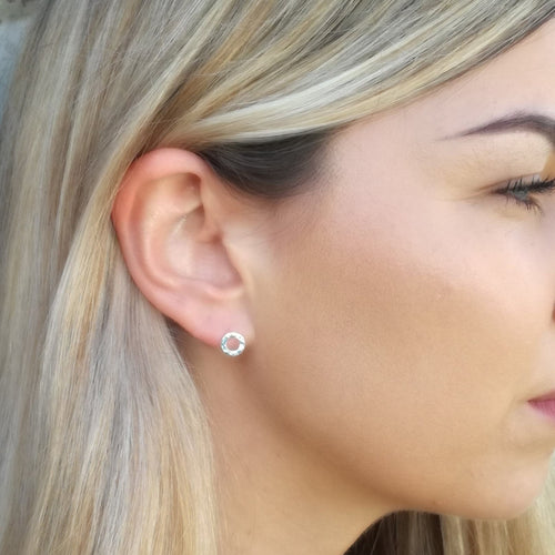 Hammered Circle Studs