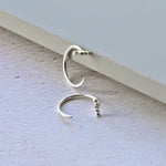 Small Huggie Bar Hoop Earrings