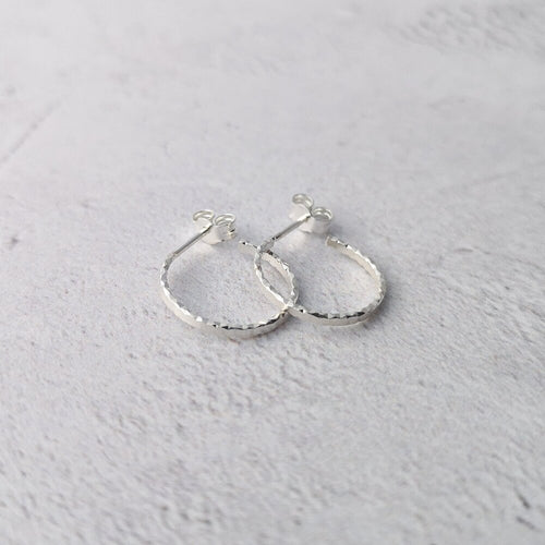Small Faceted Hoop Earrings * Limited Edition *