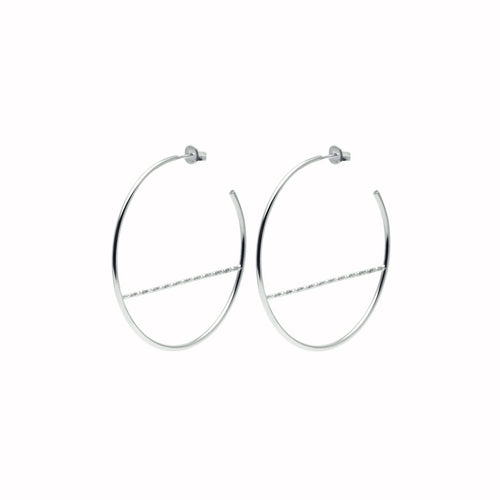 Faceted Bar Geometric Hoop Earrings