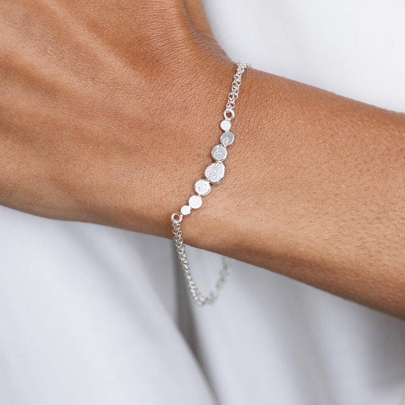 Sands Silver Pebble Bracelet