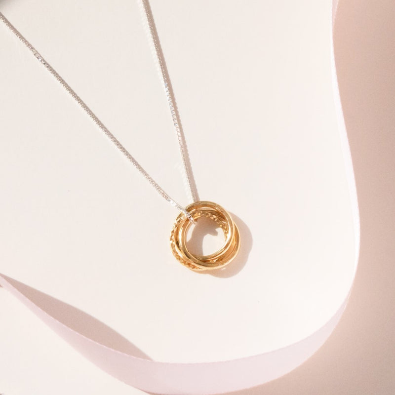18ct Vermeil Russian Ring Necklace