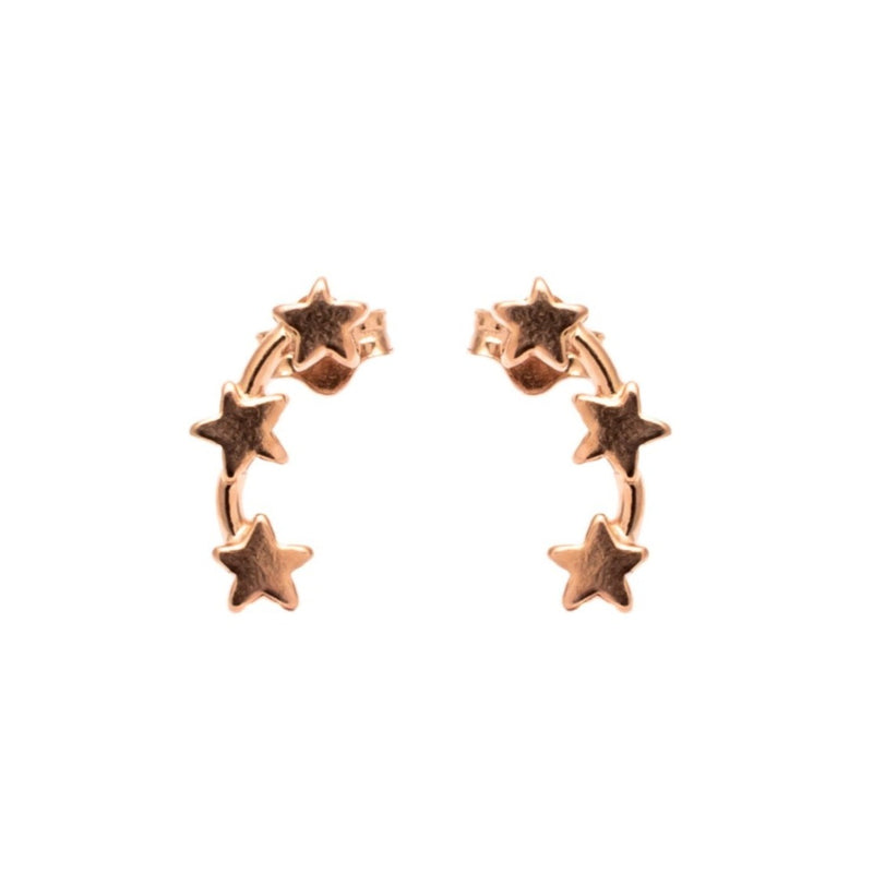 Triple Star Stud Ear Climbers