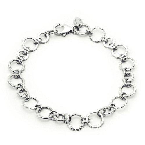 Faceted Circle Chain Link Bracelet