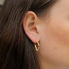 Diamond Shape Hoop Earrings