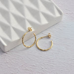 Gold Vermeil Faceted Hoops