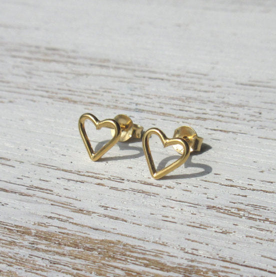 Sale Love Heart Studs