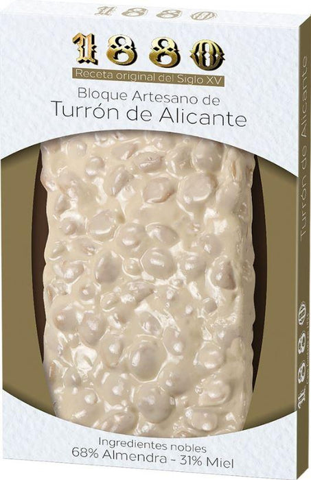 1880 Turrón Alicante - Handmade Block Brittle Bar 220g