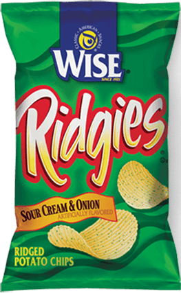 Wise Ridgies Sour Cream Onions ( 14 in case )