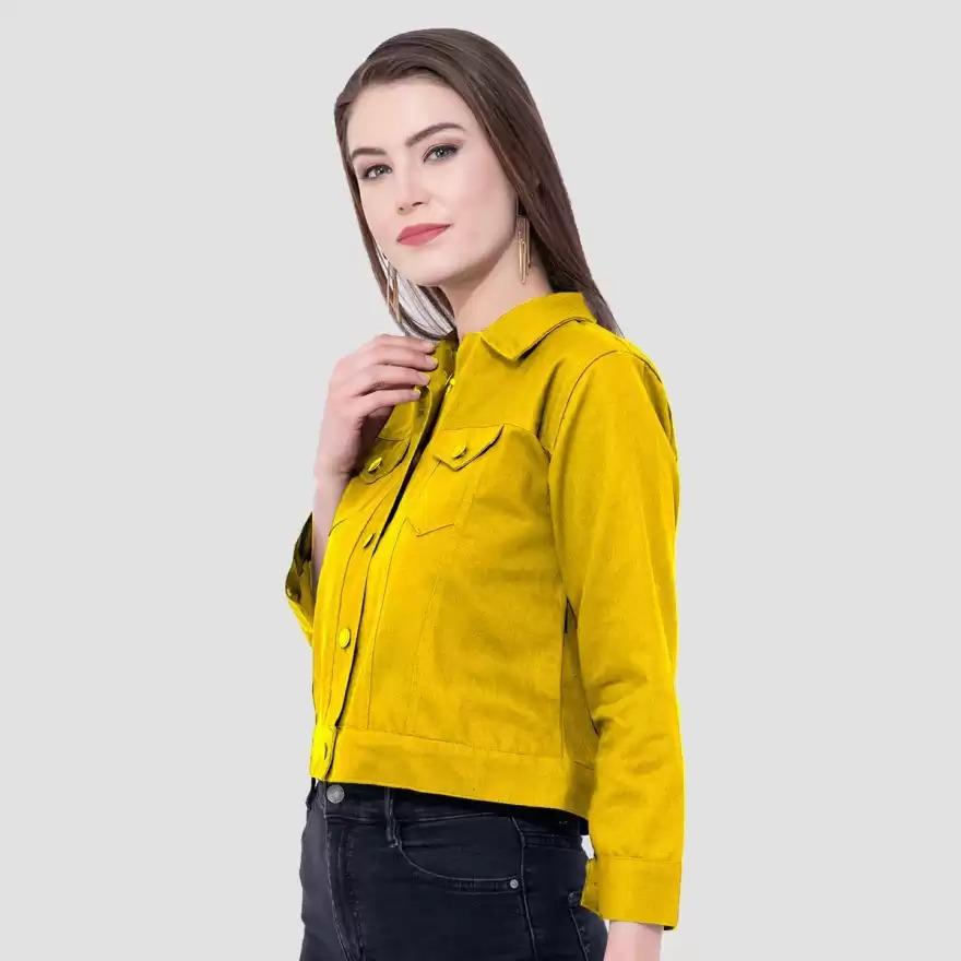 Sleeve Solid Women Jacket