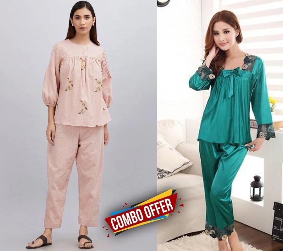 Combo Night Suit For Girls And Woman Drashtifashion-13