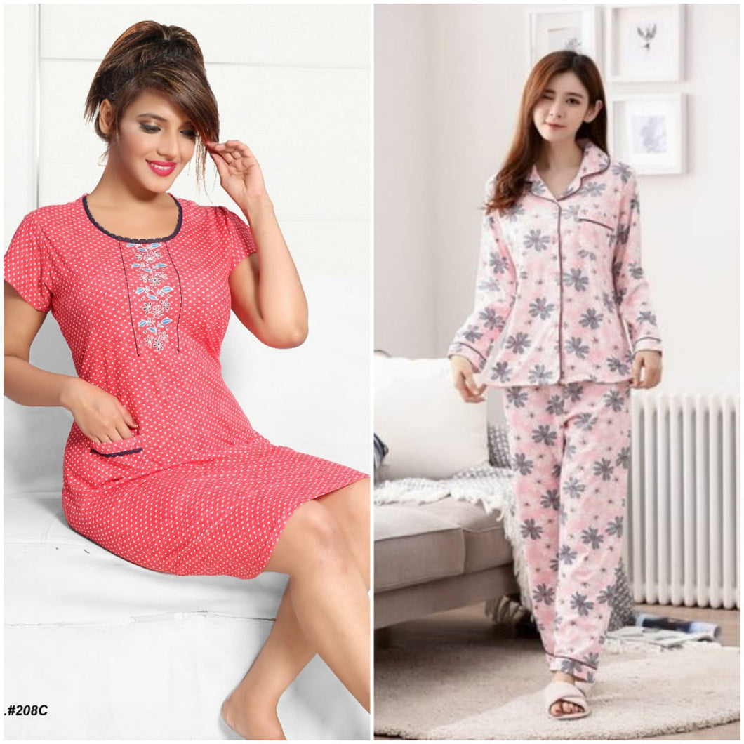 Combo Night Suit For Girls And Woman HS-45
