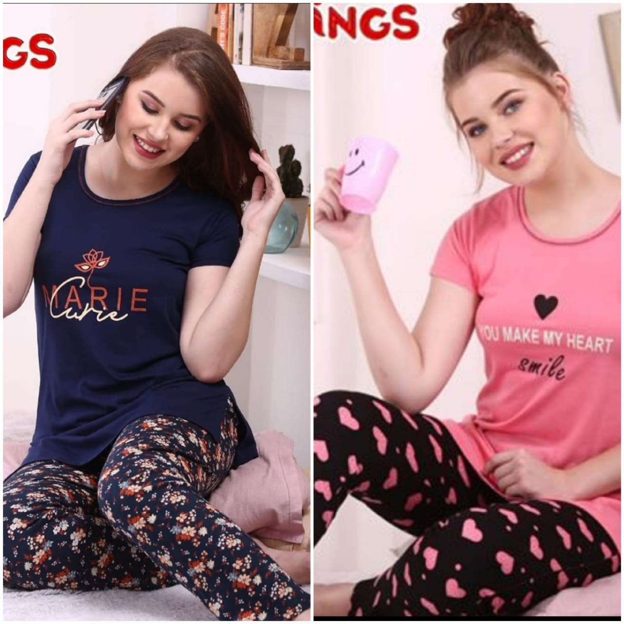Combo Night Suit For Girls And Woman HS-30