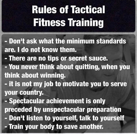 The Ten Rules of Tactical Fitness Training