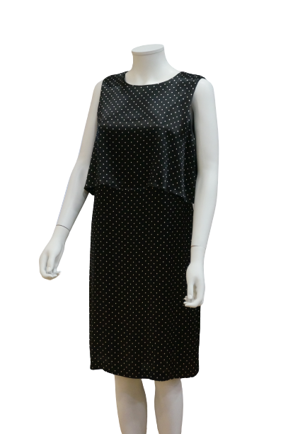 S/LESS DOUBLE LAYER POLKA DOT VISCOSE DRESS