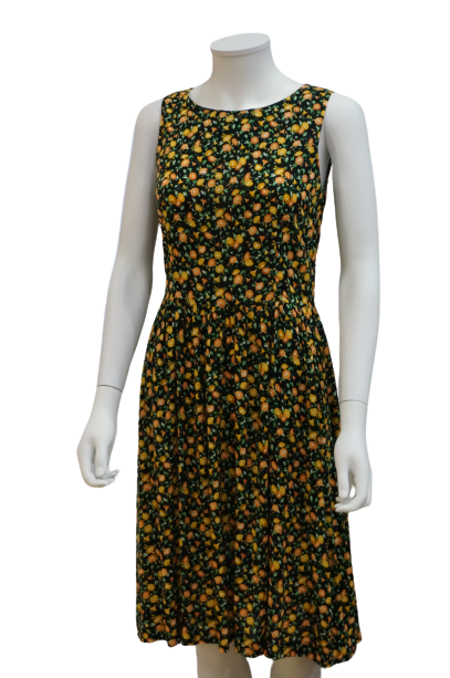 S/LESS FLORAL VISCOSE DRESS WITH GATHERS