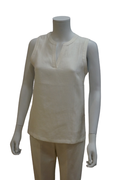 S/LESS NEHRU COLLAR LINEN BLOUSE