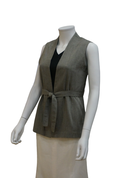 COTTON VISCOSE VEST JACKET