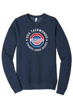 Load image into Gallery viewer, USATKD Emblem (Color) Fleece Raglan Sweatshirt