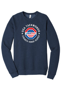 USATKD Emblem (Color) Fleece Raglan Sweatshirt