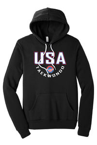 USA Taekwondo Full Print #2 Fleece Pullover Hoodie