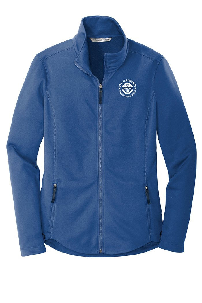 Ladies USATKD Emblem Smooth Fleece Jacket