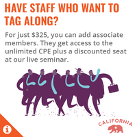 Total Practice California Associate - Unlimited CPE > 1 member – Annual Subscription