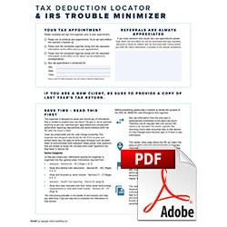 2020 Tax Organizer PDF Suite - 3 Versions