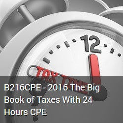 B216CPE - 2016 The Big Book of Taxes PDF With 24 Hours CPE