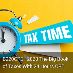B220CPE - 2020 The Big Book of Taxes With 24 Hours CPE