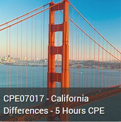 CPE07017 - California Differences - 5 Hours CPE